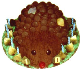 Cadbury Button Hedgehog Cake